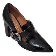d36b31125 Compre Online Sapato Preto de Salto Grosso e Bico Fino da Vizzano 1285.102.