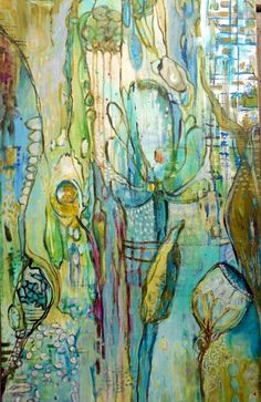 in the garden 5 by Annie Lockhart (seems like an intuitive painting to me)