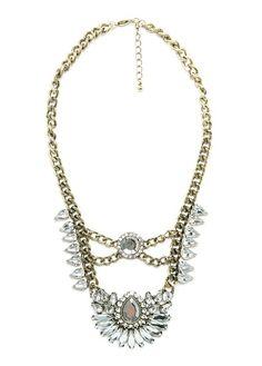 Crystal embellishment necklace