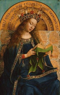 Detail of The Virgin Mary from The Ghent Altarpiece - Hubert van Eyck and Jan van Eyck