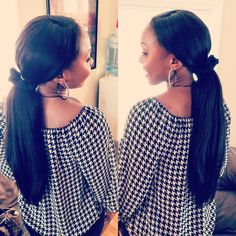 YES to #ponytail with ONYC #HairExtensions This #ONYCBeauty is rocking a full weave with closure style using #ONYCHair Relaxed Perm #hair.  Shop Now >>> http://bit.ly/Relaxed_Perm