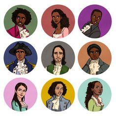 """RAISE A GLASS"" to the amazing cast of Hamilton the musical #fanart #Hamiltunes"