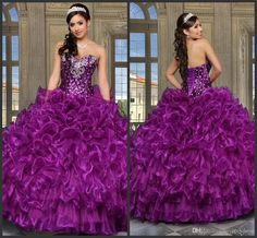 2016 Purple Cheap ᗕ Quinceanera Dresses With Jacket Sweethert Crystals ₩ Orgabza Ball Gown Vestidos De 15 Anos Sweet 16 Dresses 2016 Purple Cheap Quinceanera Dresses With Jacket Sweethert Crystals Orgabza Ball Gown Vestidos De 15 Anos Sweet 16 Dresses Cheap Quinceanera Dresses, Pageant Dresses, Sweet 16 Dresses, Pretty Dresses, Quince Dresses Mexican, Lila Rock, Puffy Skirt, Dress Vestidos, Purple Skirt