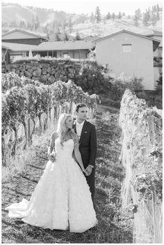 Black and White. Bride & Groom. Vineyard Wedding. Seattle wedding Photographer. Karma Vineyards Chelan Wedding. B. Jones Photography www.bjonesphotos.com