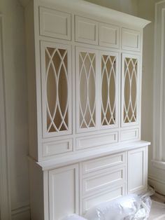 O'More College of Design - Show House Progress Gallery -- gorgeous built-in china cabinet