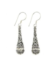 Loving this Sterling Silver Filigree-Cone Drop Earrings on #zulily! #zulilyfinds