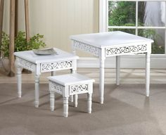 Floret Nesting Table Trio - CompetitivePricedThings
