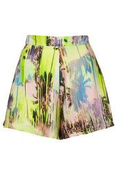 **High Waisted Tropical Print Shorts by Oh My Love
