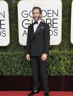 Chris Pine, Golden Globe awards 2017, without socks