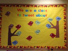 bird bullentin boards | What cute bulletin boards to welcome the children to our classroom ...