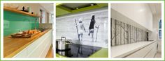 Making a big impact in your kitchen using your splashback as a feature. Splashback Ideas, Modern Kitchens, Glass Kitchen, Big, Furniture, Home Decor, Decoration Home, Room Decor, Contemporary Kitchens