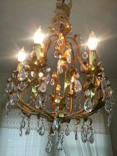 Italian chandelier at Rusty NChippy's