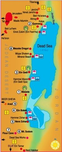 map of the dead sea israel