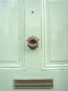 Mint colored door