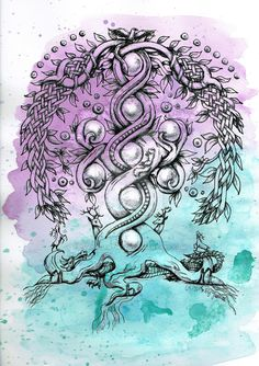 Yggdrasil - the tree of life by JaanasArtwork