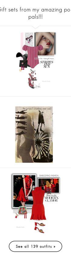 """Gift sets from my amazing poly pals!!!"" by katelyn999 ❤ liked on Polyvore featuring Lisa Marie Fernandez, Manolo Blahnik, Rebecca de Ravenel, art, Shiatzy Chen, Attico, Oris, Rubeus, SemSem and Yves Saint Laurent"