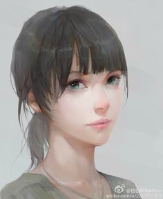 Beautiful anime style portrait, almost has a watercolor style. Digital Portrait, Portrait Art, Character Illustration, Illustration Art, Girl Pose, Drawn Art, Anime Kawaii, Art Graphique, Belle Photo
