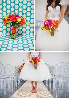 Casamento colorido e romântico