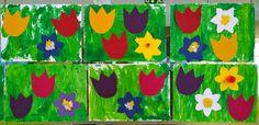 Tulppaaneja, valkovuokkoja, sinivuokkoja, narsisseja. Flag, Spring, Art, Art Background, Kunst, Science, Performing Arts, Flags, Art Education Resources