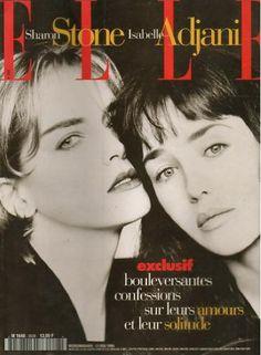 Sharon Stone & Isabelle Adjani - Elle France May 1996