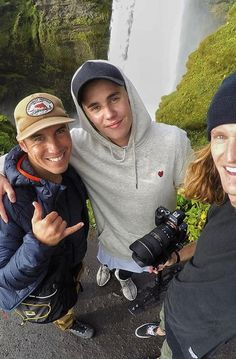 Justin Bieber Hiking with friends