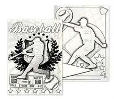 Baseball Canvas Colorables.  Great Baseball illustrations.