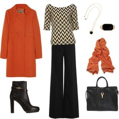 Chevron and Orange, created by mamafolie on Polyvore