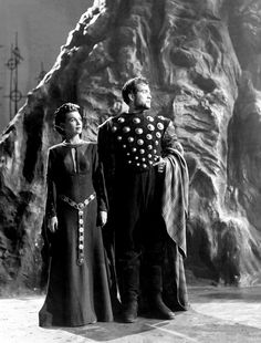 Orson Welles film of MACBETH (1948), with Orson Welles and Jeanette Nolan as Lord and Lady Macbeth.