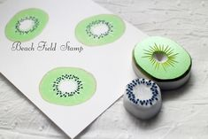 [Resale] multicolor press eraser of kiwi Hanko - Beach Field Stamp - Stamps & Stamp Pads Diy Stamps, Homemade Stamps, Stamp Printing, Printing On Fabric, Screen Printing, Stencils, Eraser Stamp, Stamp Carving, Fabric Stamping