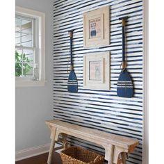 Paintable Wallpaper, Wallpaper Panels, Fabric Wallpaper, Wallpaper Ideas, Boys Wallpaper, Wallpaper Decor, Wallpaper For House, Cottage Wallpaper, Waves Wallpaper