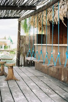 Hanging chairs outdoor bar ideas