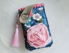 Sakura Rose  Mobile Phone Pouch-Samsung-HTC-LG from Lily's Handmade - Desire 2 Handmade Gifts, Bags, Charms, Pouches, Cases, Purses by DaWanda.com