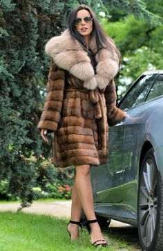 NEW SUPERIOR MINK FUR COAT CLASS OF SABLE CHINCHILLA FOX JACKET LONG VEST TRENCH