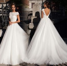 Find More Wedding Dresses Information about 2016 New Sexy Scoop Lace A Line Wedding Dresses With Beading Bow Backless Organza Plus Size Bridal Gowns Robe De Mariage WD26,High Quality dress clogs,China dress xxxxl Suppliers, Cheap dress up girls dresses from Juliana Wedding Dresses Store on Aliexpress.com