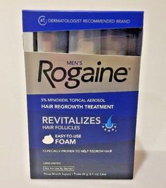 MEN'S ROGAINE  3 MONTH SUPPLY 5% MINOXIDIL TOPICAL SOLUTION SEALED  EXP 5/2019 #ROGAINE