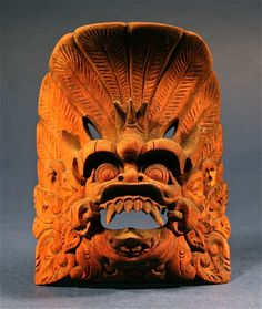 Antique Little Hand Carved Indonesian Balinese Tribal Art Mask - http://www.busaccagallery.com/catalog.php?catid=172=5929=1