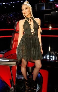 Gwen Stefani's Stylists Reveal Why Her Looks on The Voice Were Completely Different - The Deep Plunge  - from InStyle.com