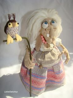 Charming witch doll project made using LittleOwlsHut Crochet pattern designed by Astashova. Project Great for Halloween