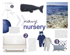 """navy nursery"" by regnlee ❤ liked on Polyvore featuring interior, interiors, interior design, home, home decor, interior decorating, Oeuf, Thro, Archive New York and Cultural Intrigue"