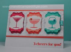 Stampin' Up! Happy Hour made by Hand Stamped Style, THANKS for checkin out my PIN get more info from my BLOG and my Facebook Page http://www.facebook.com/handstampedstyle