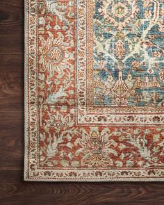 Shop for Alexander Home Isabelle Traditional Vintage Border Printed Area Rug. Get free delivery On EVERYTHING* Overstock - Your Online Home Decor Store! Ocean Rug, Vintage Borders, Oriental Pattern, Large Rugs, Room Rugs, Joss And Main, Old World, Traditional, House Styles