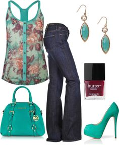 """Spring!"" by honeybee20 on Polyvore. I'm on the fence about the shirt."
