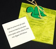 turtle invitation - partecipazione tartaruga (impronte sule nuvole)