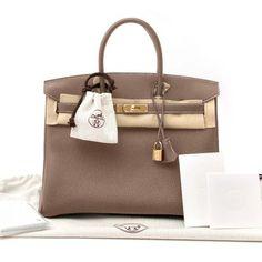 2a53665072 New Hermes Birkin Bag 35 Togo Etoupe Women s Purse