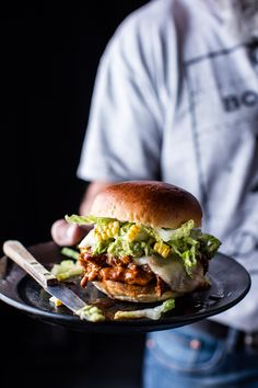 Southwest BBQ Pork Sliders | halfbakedharvest.com @hbharvest @oldelpaso