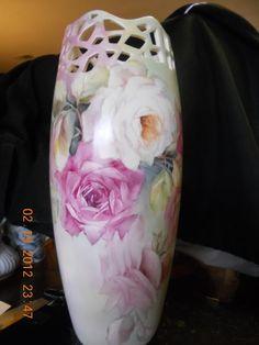 New Rose Vase | ARTchat - Porcelain Art Plus (formerly Chatty Teachers & Artists)  June Watson Artist
