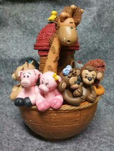 Noah's ark Cold porcelain