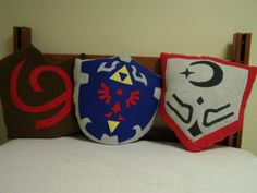 Zelda Ocarina of Time Pillow Group by MadgeinationCrafts on Etsy
