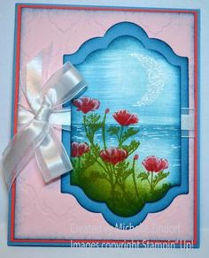 Wild Flowers by the Waterside Stampin' Up! Card created by Michelle Zindorf using the Wild about Flowers stamp set.