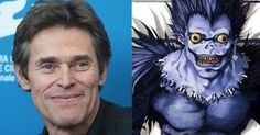 Willem Dafoe to voice the Shinigami in Netflix's 'Death Note' (Exclusive) -      In the midst of filming  Justice League  , Willem Dafoe has closed a deal to voice Ryuk the Shinigami in Adam Wingard's adaptation of the popul...